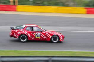 Porsche 924 Carrera GT, mitgezogen wärend des YT Rennen 2 beim Youngtimer Festival Spa am 19.7.2015