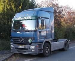 Mercedes Benz Actros 1832, gefunden im Frühjahr 2015 in einem Gewerbegebiet in Horn - Bad Meinberg