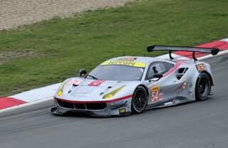 Nr.54 Spirit of Race, LM GTEam Ferrari 488 GTE der Fahrer: Thomas Flohr, Francesco Castellacci, Miguel Molina.