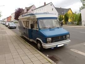 Peugeot Wohnmobil gesehen in Weiden am 12.05.2019.