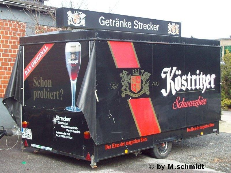 älterer Getränke Verkaufsanhänger Köstritzer Schwarzbier \
