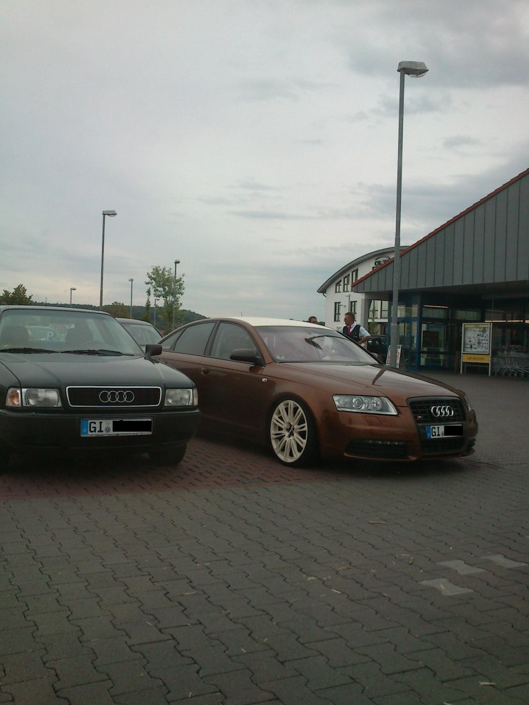 audi a6 in bronze mit dunkelwei en felgen supermarktparkplatz in pohlheim bei gie en. Black Bedroom Furniture Sets. Home Design Ideas