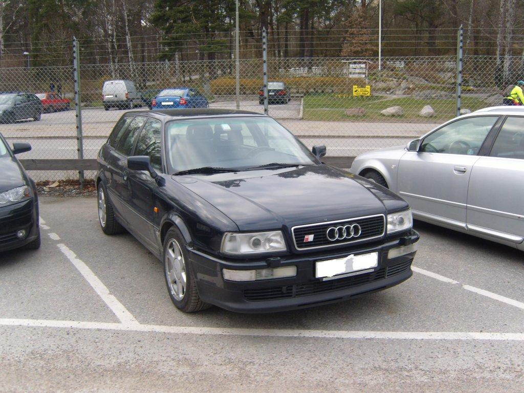 Audi S2 Avant B4. Stockholm Schweden. Am 10.04.2008 ...