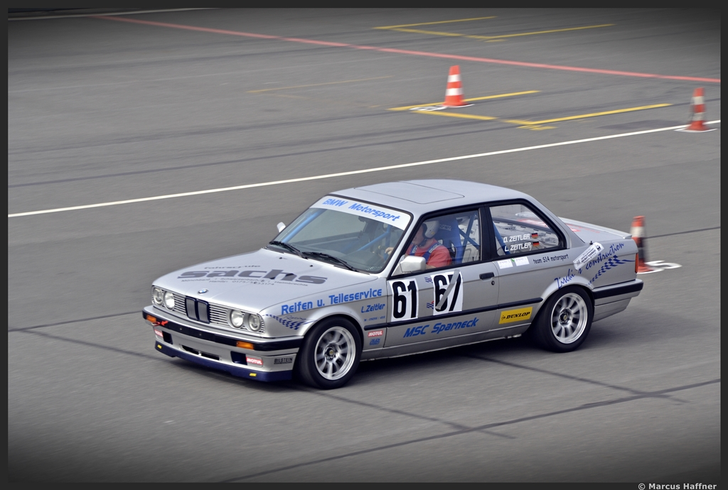 bmw 318 is beim 45 adac renn slalom an der steintrib ne in n rnberg am 14 april 2013. Black Bedroom Furniture Sets. Home Design Ideas