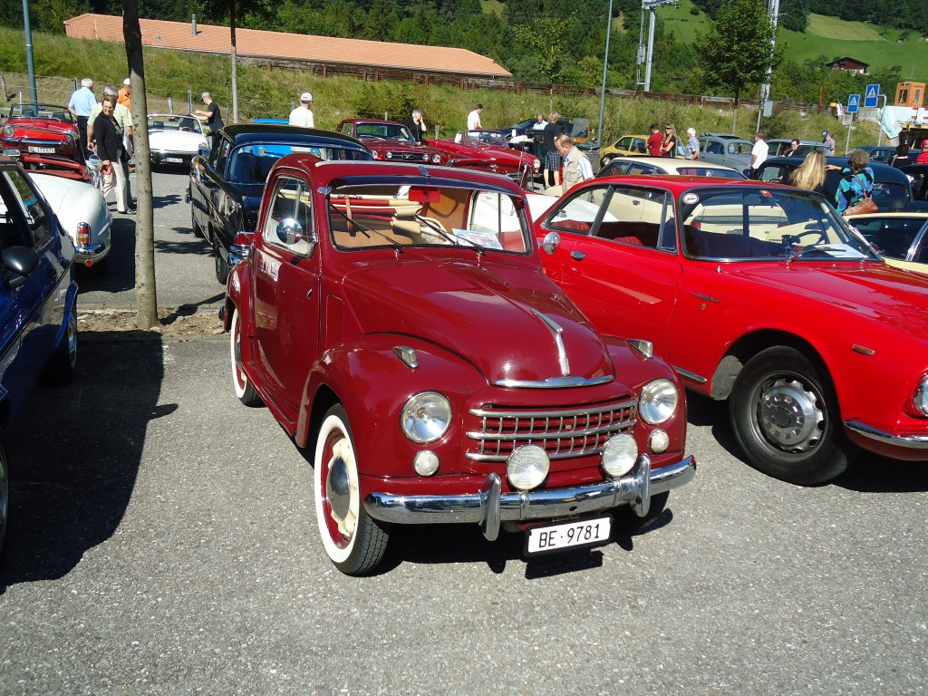 Fiat-Topolino BE 9781 am 5. September 2010 am Frutigtaler Oldtimertreffen in Reichenbach