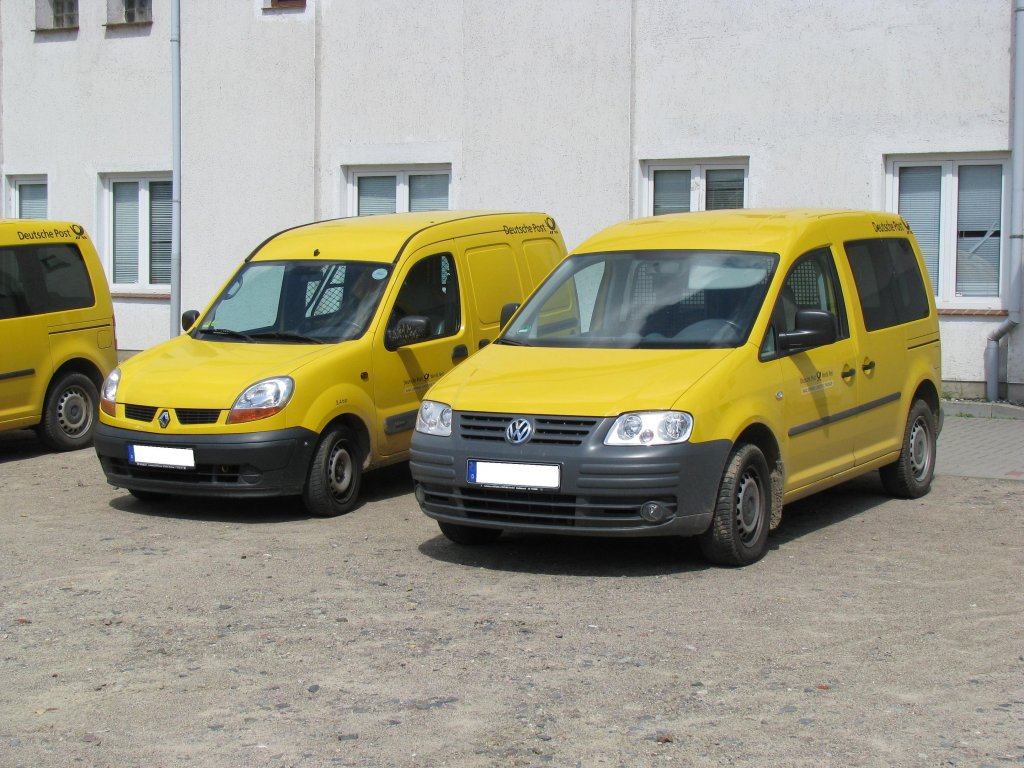 kombi s renault kangoo rapid rn 1 9 d und vw caddy 2 0 der deutsche post ag rehna 2. Black Bedroom Furniture Sets. Home Design Ideas