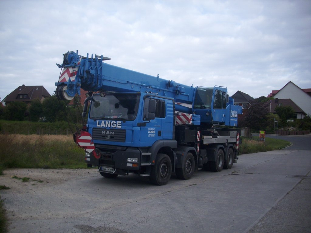 MAN Autokran in Sassnitz am 02.09.2012