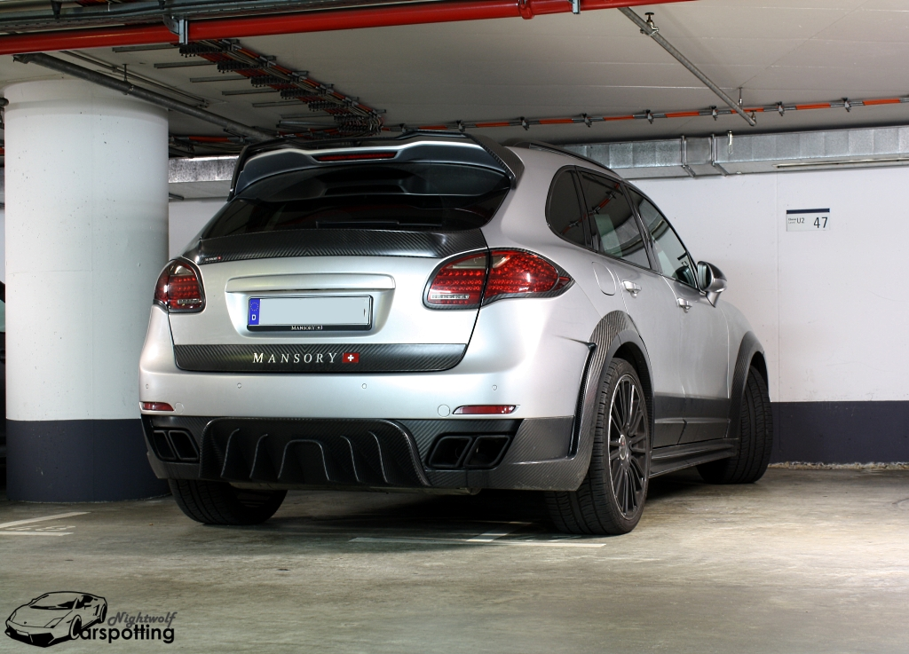 Mansory porsche cayenne in einer tiefgarage in frankfurt for Garage porsche caen