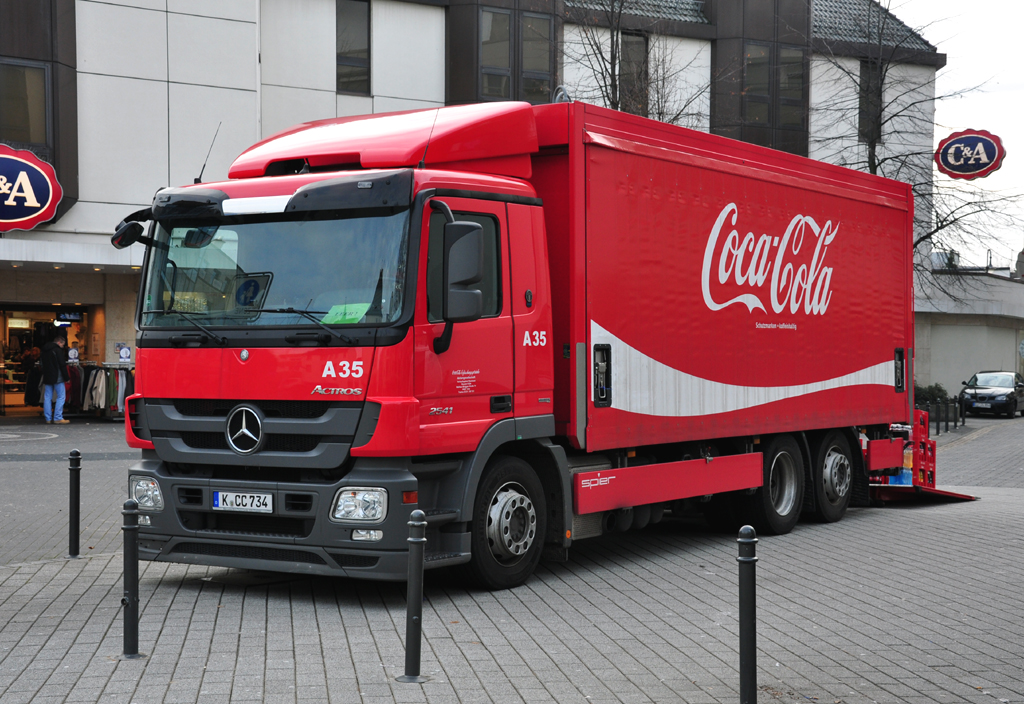 mb actros 2541 coca cola in euskirchen. Black Bedroom Furniture Sets. Home Design Ideas
