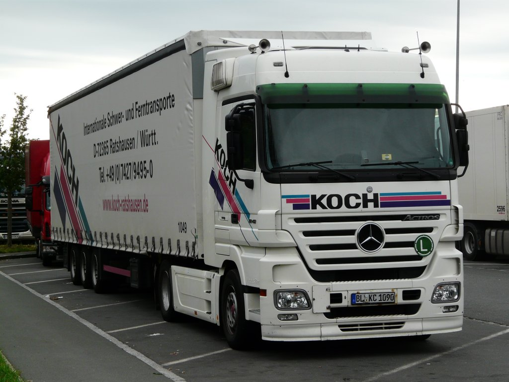 Mb actros mp2 1848 der spedition koch auf der rastanlage for Spedition koch 0541