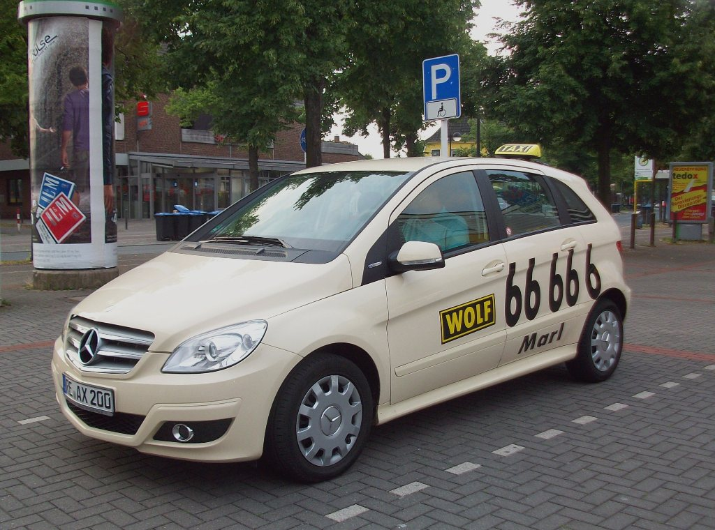 mercedes benz b klasse w245 als taxi in marl kreis. Black Bedroom Furniture Sets. Home Design Ideas