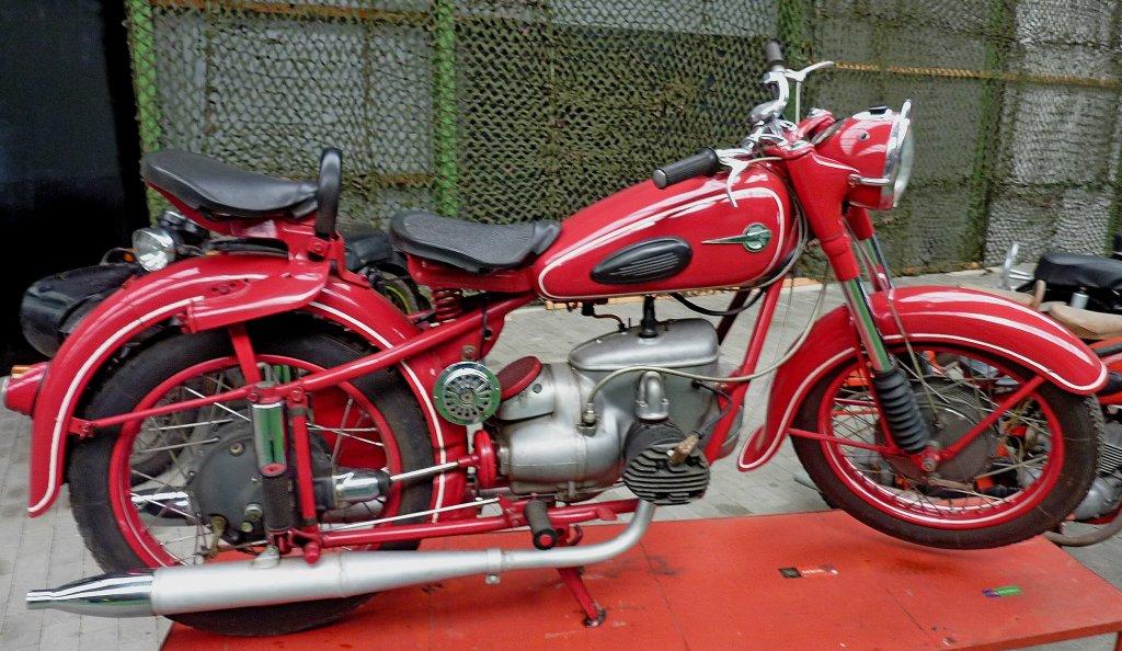mz bk 350 2 zyl 2 takt boxer motor mit 343ccm und 17ps baujahr 1953 technik museum. Black Bedroom Furniture Sets. Home Design Ideas