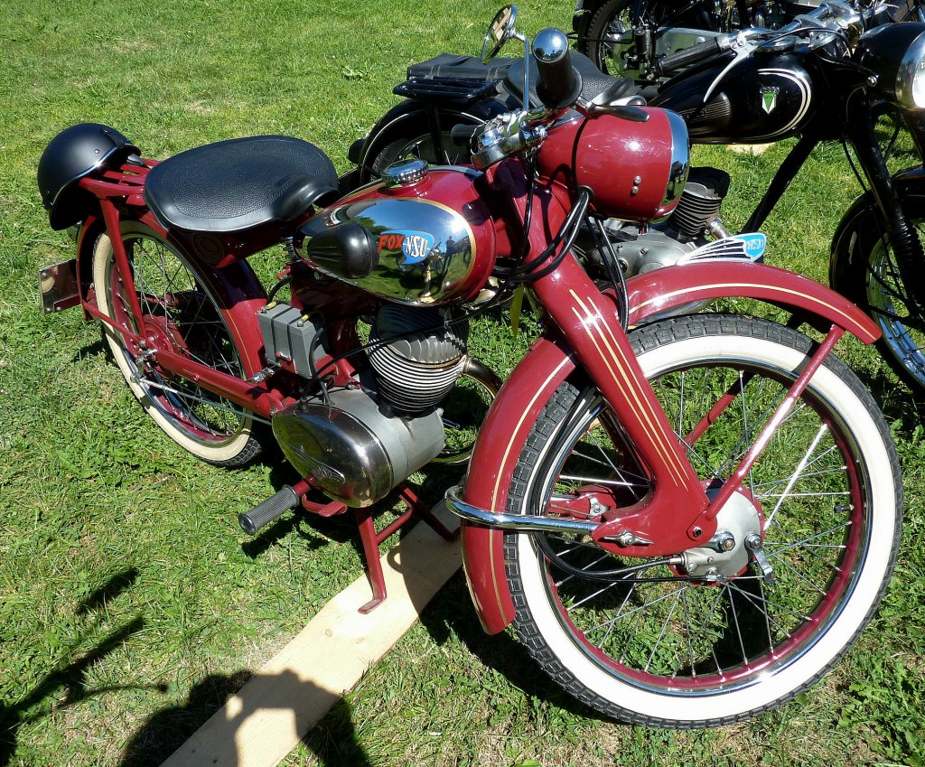 nsu fox baujahr 1953 1 zyl 4 takt motor mit 98ccm und 6ps oldtimertreffen k rnbach. Black Bedroom Furniture Sets. Home Design Ideas