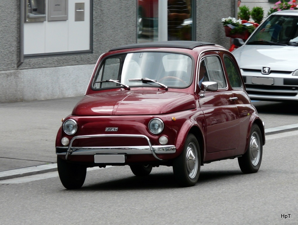 oldtimer fiat 500 unterwegs in meilen am. Black Bedroom Furniture Sets. Home Design Ideas