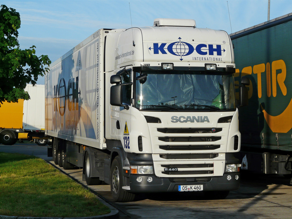 Scania r440 der mit k hlauflieger der spedition koch auf for Spedition koch 0541