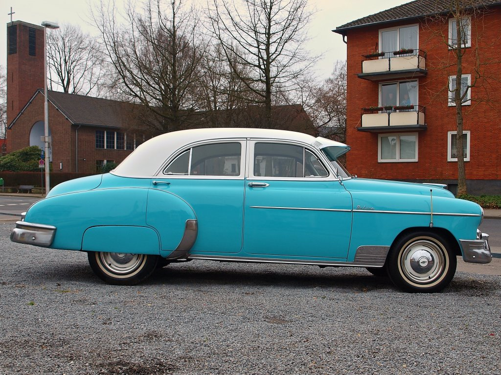 Seitenansicht eines 1950 er chevrolet 4 door styleline for 1950 chevy styleline deluxe 4 door sedan