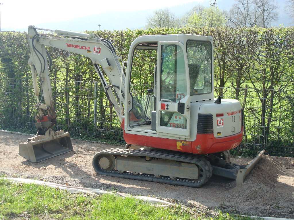 takeuchi minibagger tb 125 yanmar motor 3tne82a 17 kw 2 8 to. Black Bedroom Furniture Sets. Home Design Ideas