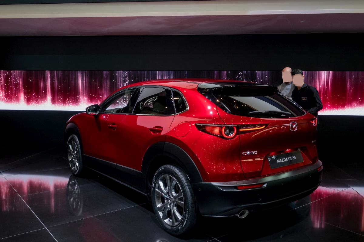 2019-er Mazda CX-30 in Soul Red. Foto: Autosalon Genf, 2019.