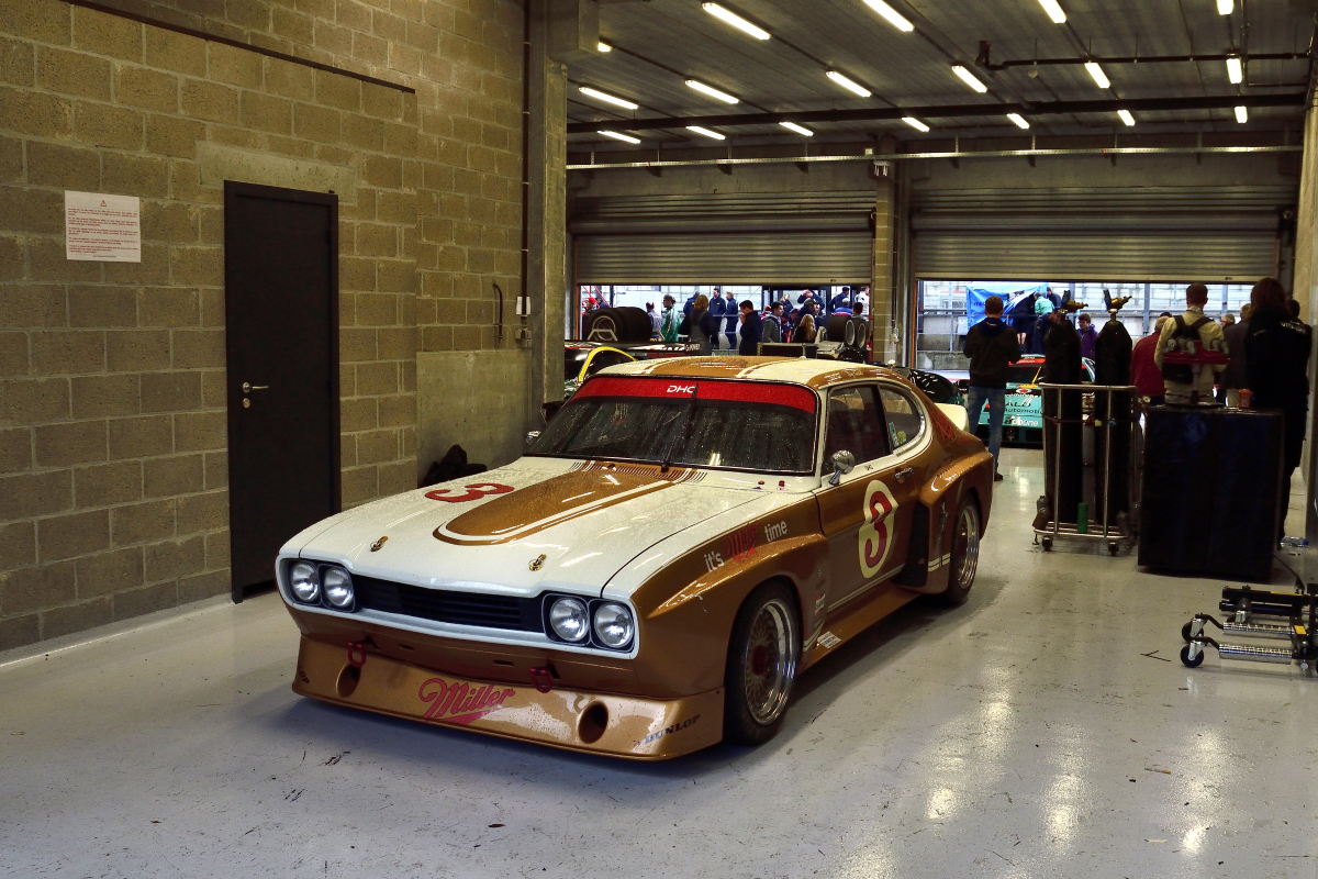 #3 in der Box, Ford Capri, Historic Motor Racing News U2TC & Historic Touring Car Challenge with Tony Dron Trophy zu Gast bei den Spa Six Hours Classic vom 27 - 29 September 2019