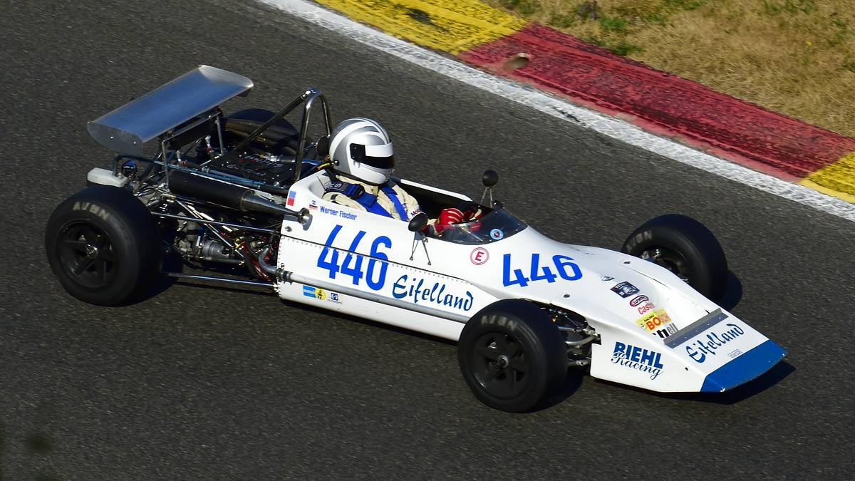 446 Fischer Werner im March 713M Lotus TC, AvD Historic Race Cup beim Youngtimer Festival in Spa Francorchamps am 15.07.2018
