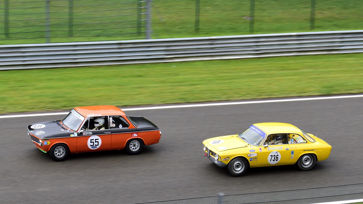 #55, BMW 1600Ti,und #736 ALFA ROMEO Giulia Sprint GT, Historic Motor Racing News U2TC & Historic Touring Car Challenge with Tony Dron Trophy zu Gast bei den Spa Six Hours Classic vom 27 - 29 September 2019