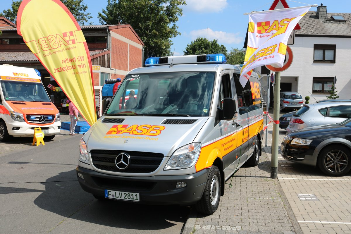 ASB Eschborn Mercedes Benz Sprinter MTW am 23.06.19 in Eschborn
