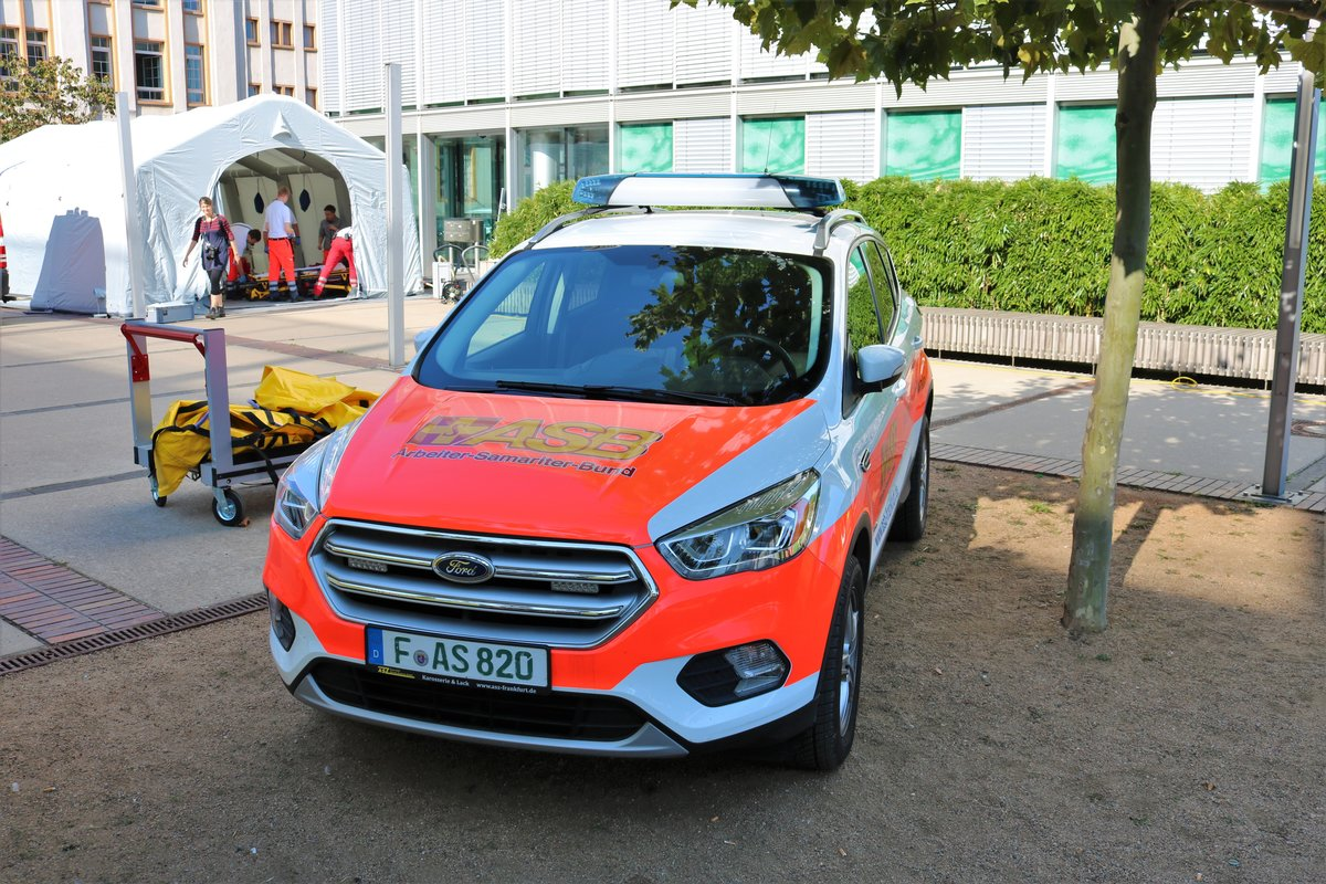 ASB Ford Kuga KdoW am 14.09.19 in Frankfurt Osthafen