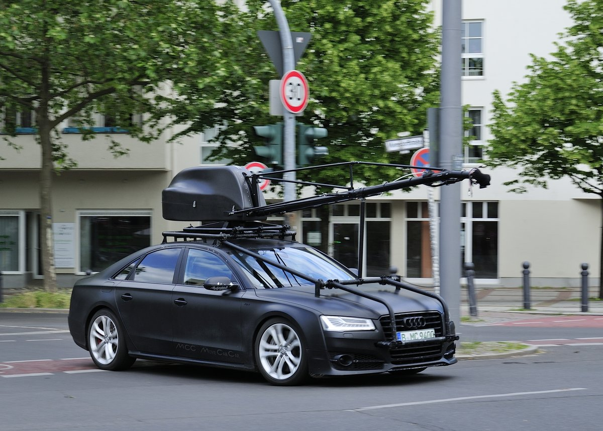 Audi A8 V8T, Movie Cam Car, am 12.06.2017 in Berlin