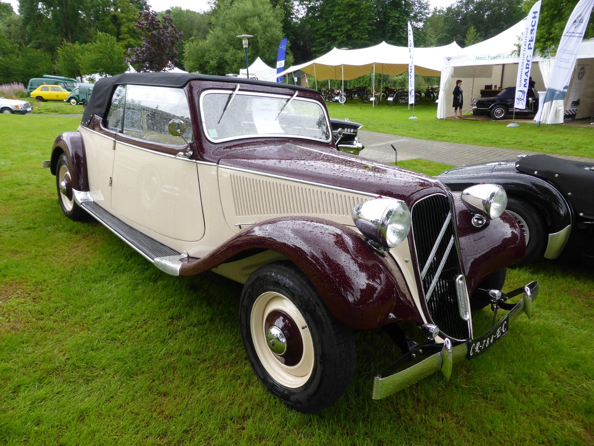 citroen 11 cv evocation cabriolet bei den luxembourg classic days 2016 in