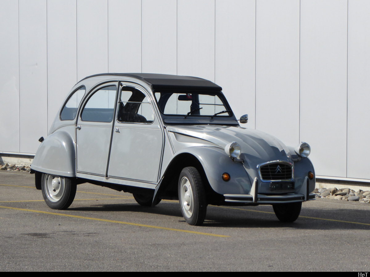 Citroen 2CV in Worben am 17.08.2020