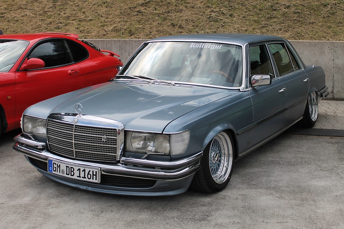 deutsches kulturgut alte mercedes s klasse bei den grefrath tuning days 11