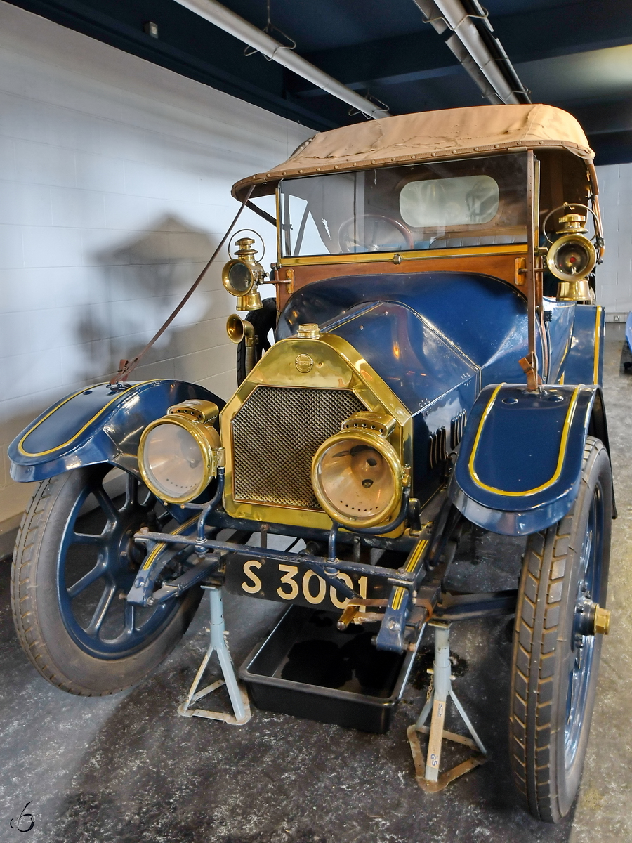 Dieser Roadster wurde 1912 bei Belsize Motors gebaut. (Museum of Science and Industry Manchester, Mai 2019)