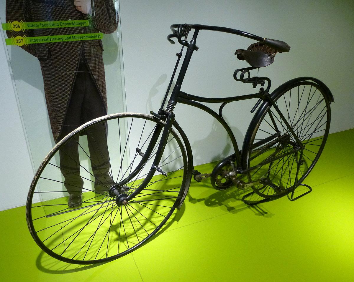Drachen-Rover, Sicherheits-Niederrad von 1885, erstes Rad mit ...