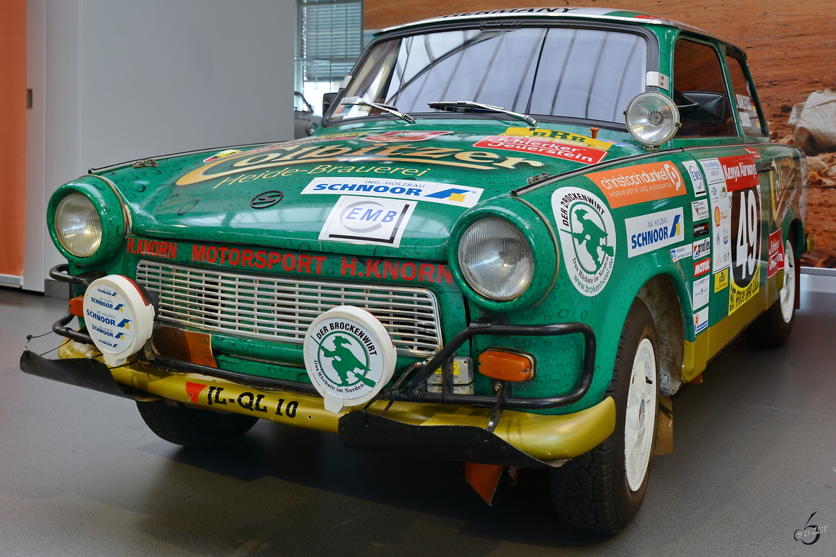Ein Rallye-Trabant im August Horch Museum Zwickau. (August 2018)