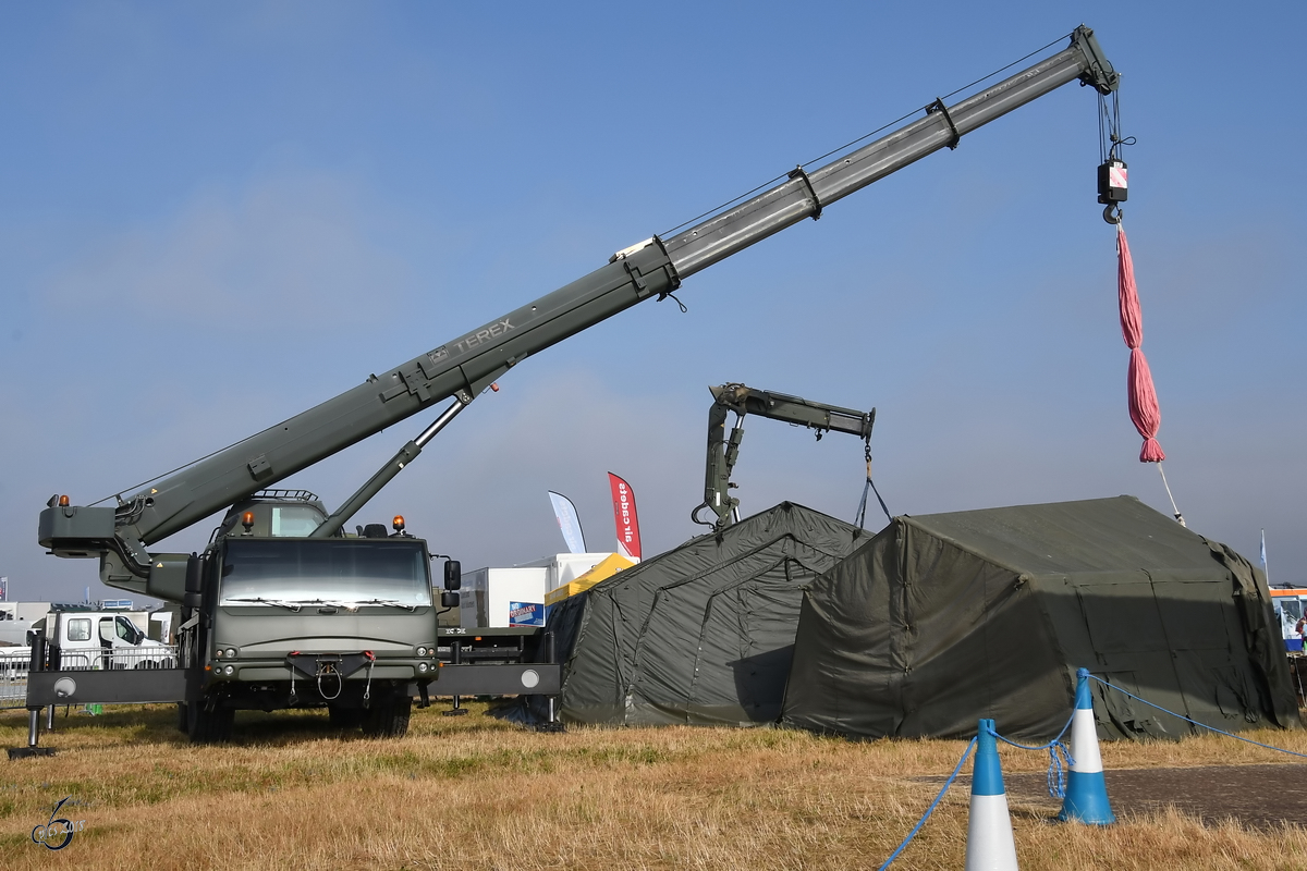 Ein Terex MTD 20T AC55 Kran der Royal Air Force Mitte Juli 2018 in Fairford.