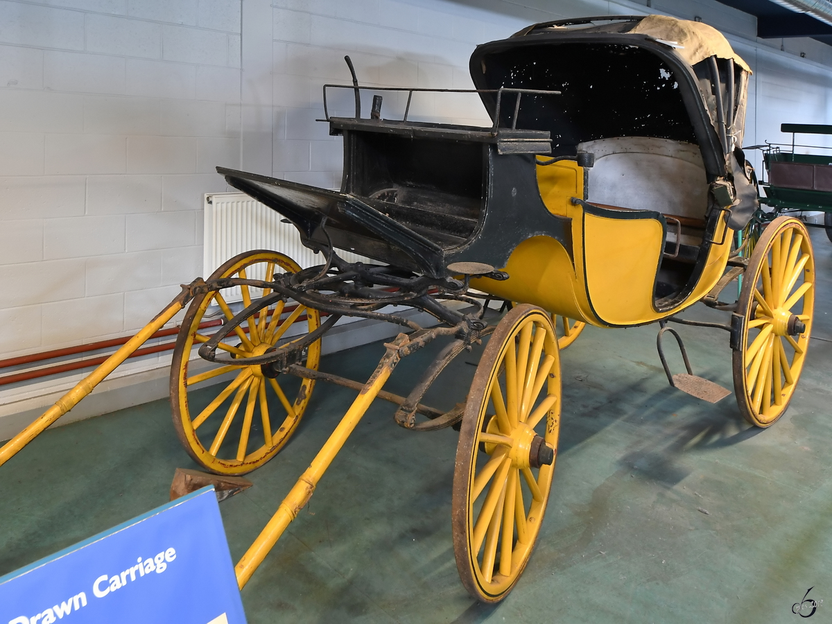 Eine Landaulet-Kutsche Anfang Mai 2019 im Museum of Science and Industry in Manchester.