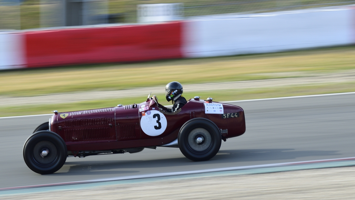 Extrem Mitzieher  NR.3 Alfa Romeo P3 Tipo B, Bj.1935 Fahrer: Rettenmaier, Stephan. 46. AvD-Oldtimer-Grand-Prix 2018, Rennen 6 Historic Grand Prix Cars bis 1965 am 11.Aug.2018