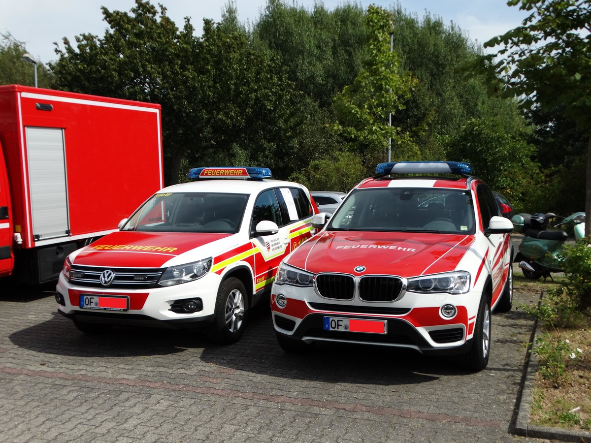 feuerwehr neu isenburg vw tiguan kdow florian isenburg 1 10 und bmw x3 am beim tag. Black Bedroom Furniture Sets. Home Design Ideas