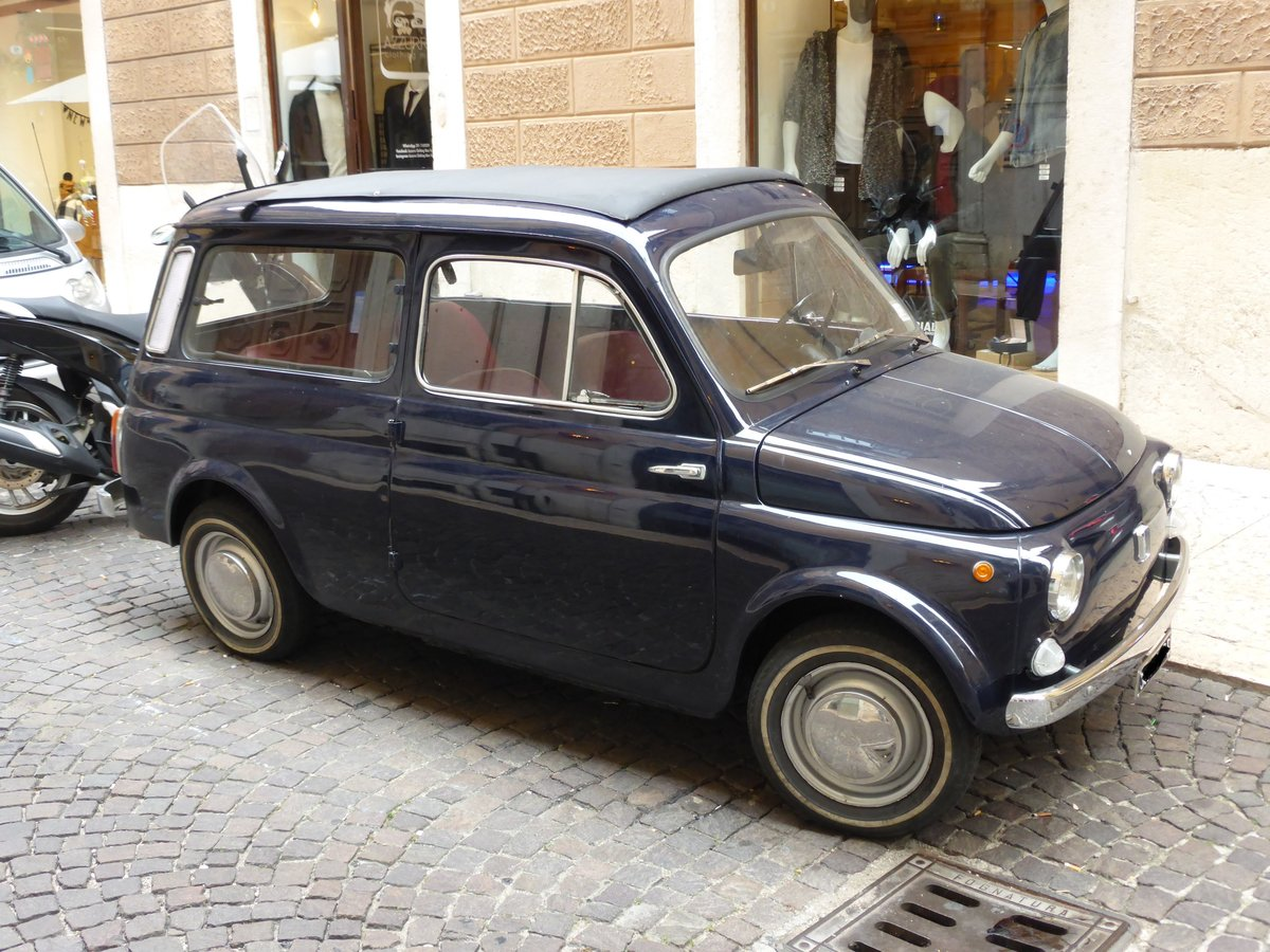 FIAT 500 Giardiniera am 15.09.2016 in Verona(I)