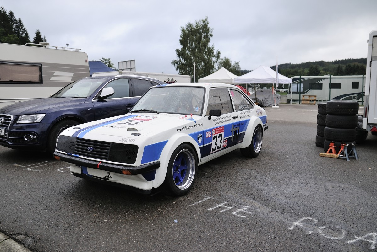FORD Escort RS2000, British Sports - GT & Saloon Challenge, Spa Classic 2015 am 19.9. im Fahrerlager.