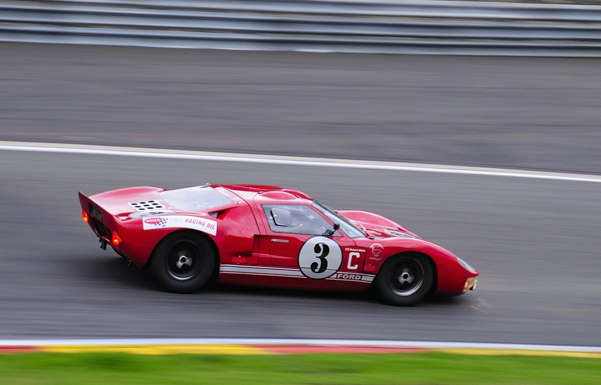 FORD GT40 MK1, Mitzieher der Nr.3, beim 6h Classic Rennen in Spa Francorchamps, am 19.9.2015