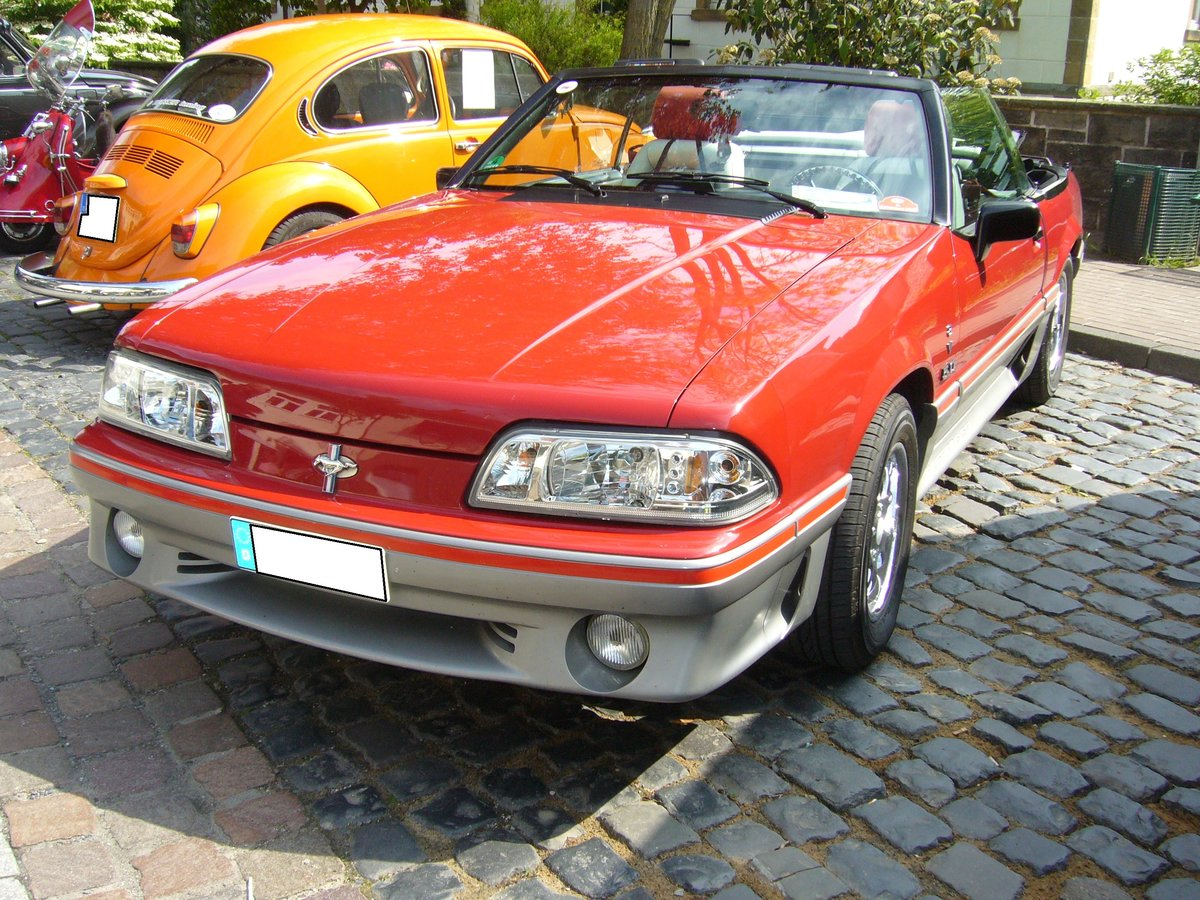 Ford Mustang 4 Convertible. 1994 - 2004. Oldtimertreffen Glandorf am 14.05.2017.