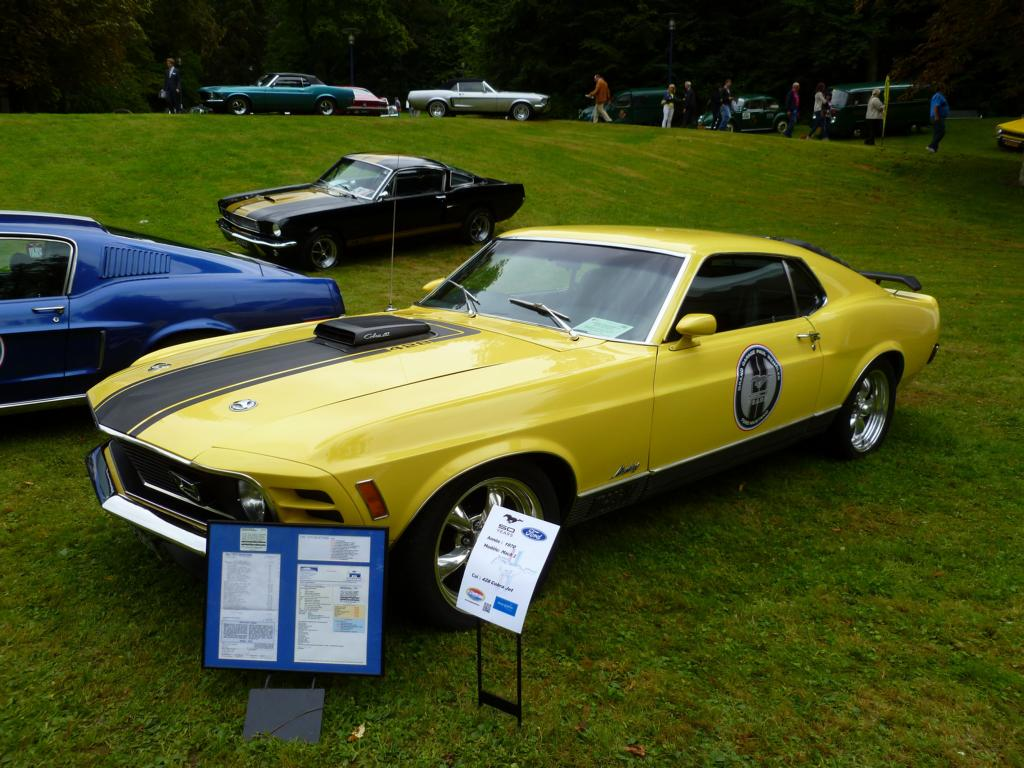 ford mustang mach 1 coup baujahr 1970 bei den luxembourg classic days in mondorf am. Black Bedroom Furniture Sets. Home Design Ideas