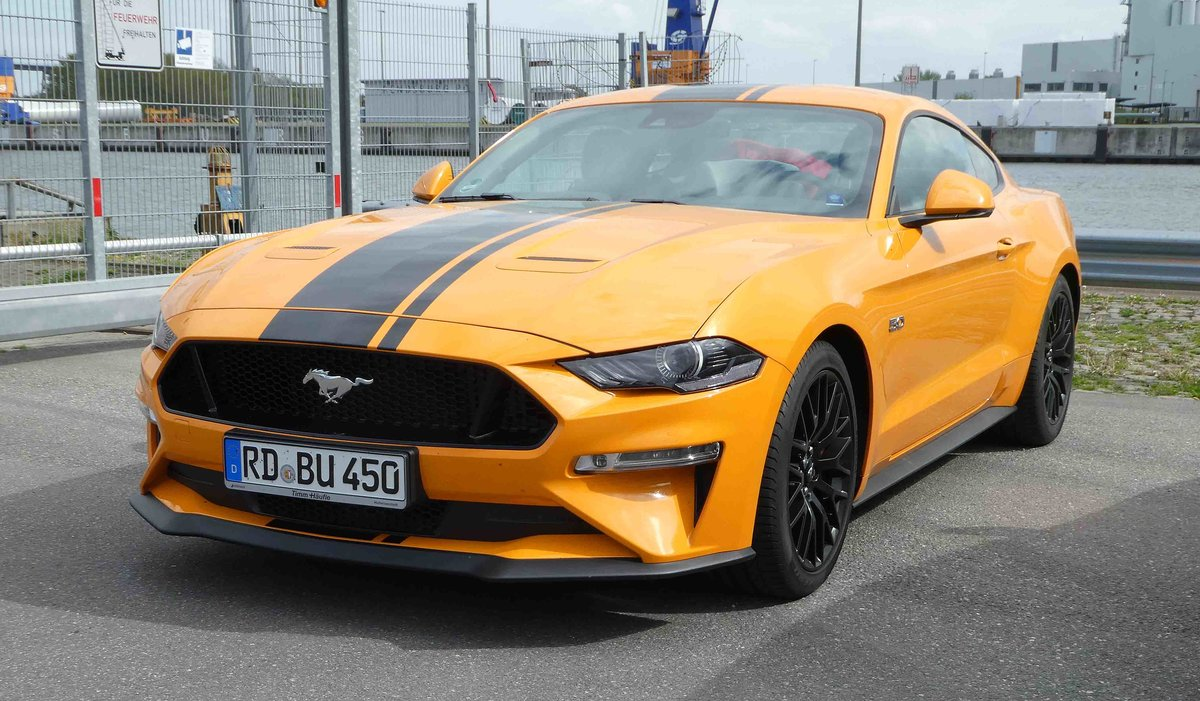 =Ford Mustang steht im Mai 2019 in Rendsburg
