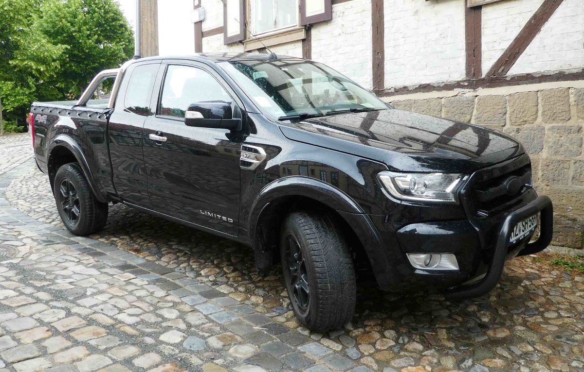 =Ford Ranger PickUp steht im Mai 2018 in Quedlinburg