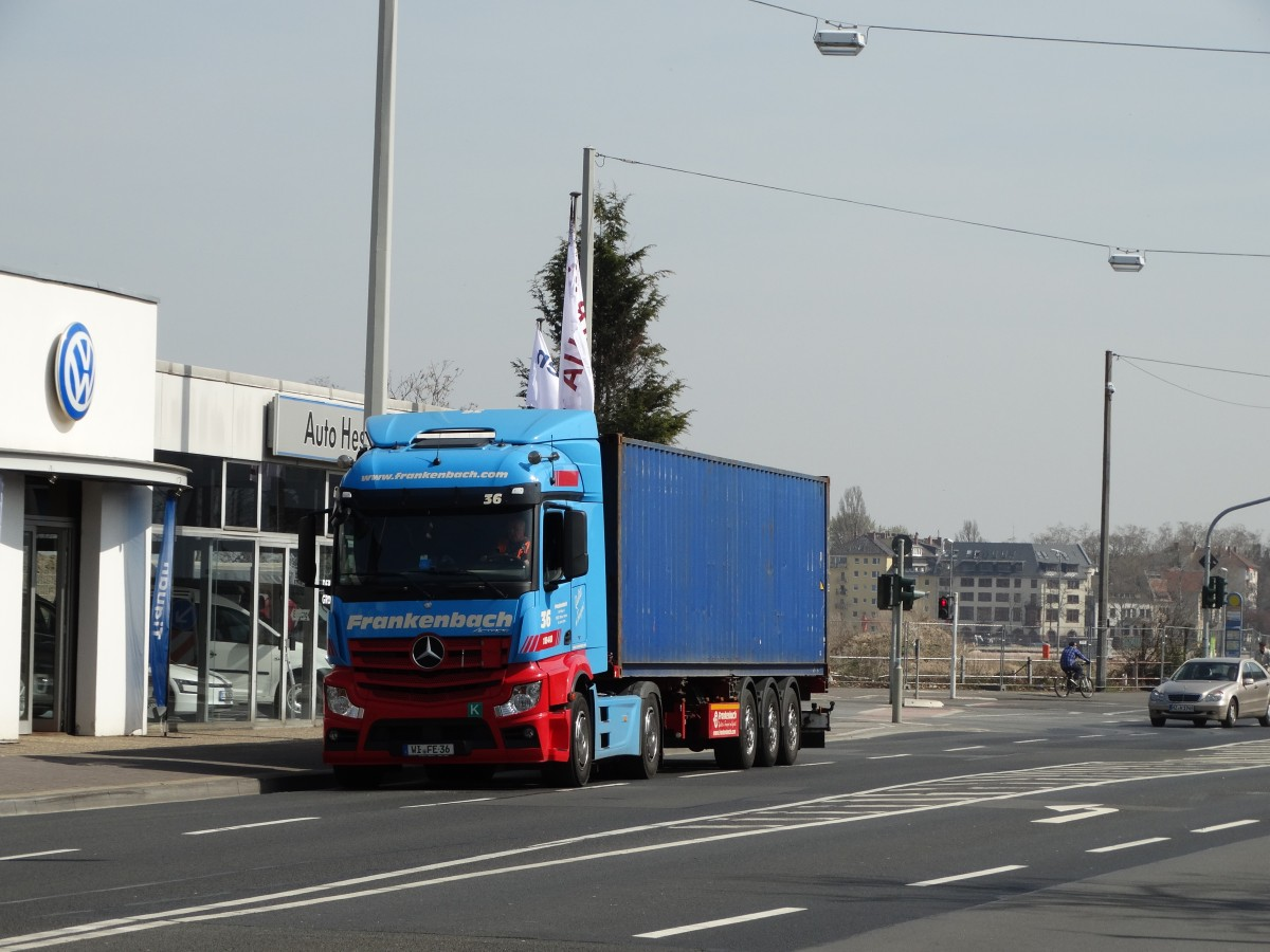 Frankenbach Mercedes Actros 36 am 10.04.15 in Mainz