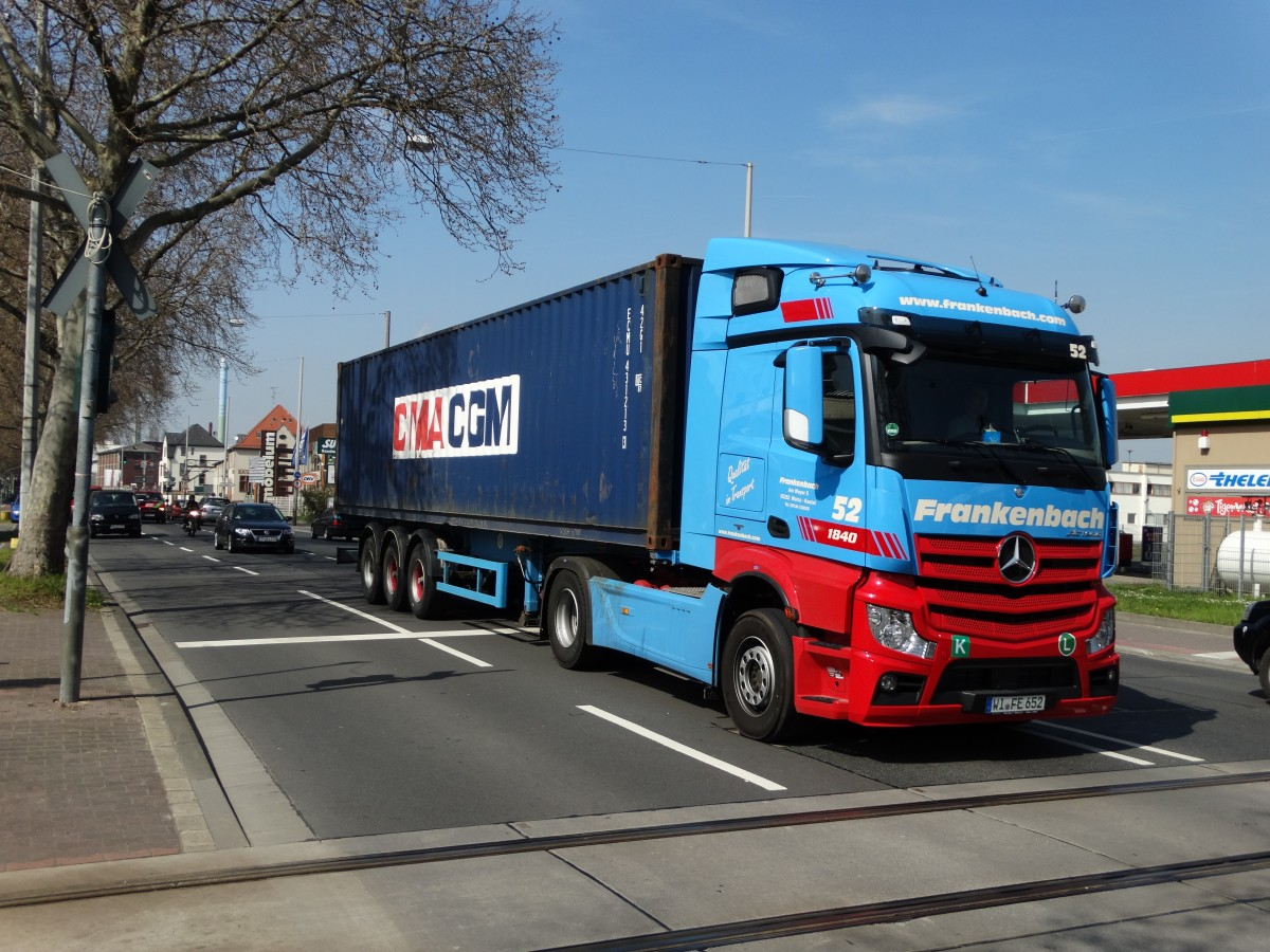 Frankenbach Mercedes Actros 52 am 10.04.15 in Mainz