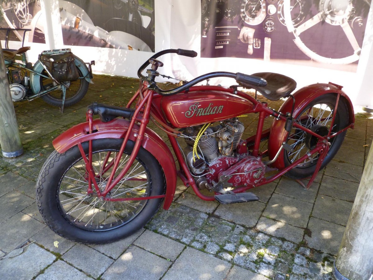 Indian Motorrad bei den Luxembourg Classic Days in Mondorf am 29.08.2015
