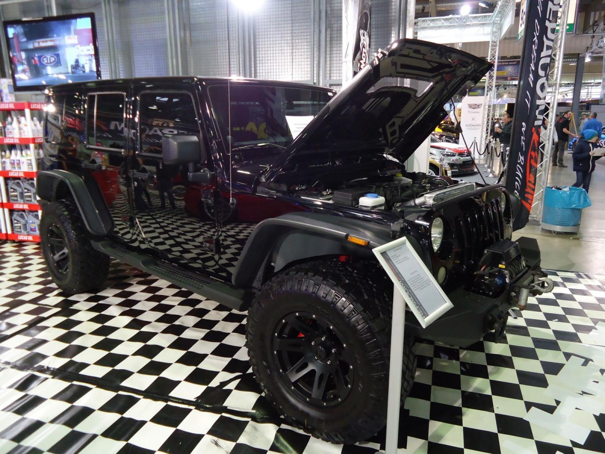 Jeep Wrangler auf der International Motor Show in Luxembourg, 22.11.2015