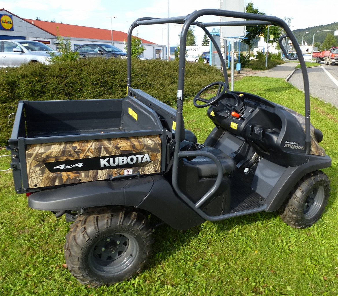 kubota rtv400 mehrzweck transporter mit zuschaltbarem allradantrieb 1 zyl 4 takt motor mit. Black Bedroom Furniture Sets. Home Design Ideas